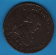 Lackington & Allen's London  1/2 HALF PENNY 1795 - Professionnels/De Société