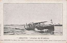 """CP """"Arlette"""", Cruiser De 10 Mètres, Coque Seyler Fils Ainé, ... - Bateaux"""