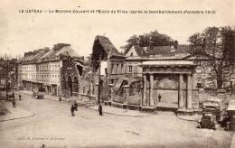 59 NORD - LE CATEAU Le Marché Couvert Et L'école De Filles - Le Cateau