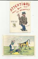 25 - Doubs - Besançon - Publicité Salines De F.C. - Lot De 2 Cartes - Rare Gendarme ??? Illustrateur - - Besancon