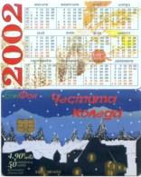 Telefonkarte Bulgarien - BulFon - Weihnachten -  50 Units  -  Kalender 2002 - Bulgarien