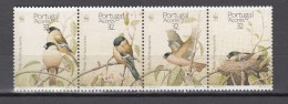 Portugal Acores 1990,4V In Strip,set,WWF,birds,vogels,vögel,oiseaux,pajaros,uccelli,aves,MNH/Postfris(A2551) - Oiseaux