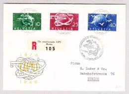 Schweiz Werbe 16.5.1949 Bern 75J UPU FDC R-Brief Nach Zürich Mit #294-296 - Schweiz