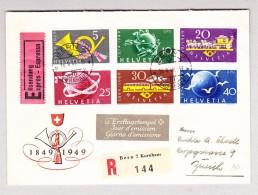 Schweiz Werbe 16.5.1949 Bern V Kornhaus #291-296 Expres FDC R-Brief Nach Zürich - Schweiz