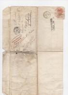 Lettre Commandement Militaire Province De Savoie à Mr Le Syndic Chignin Savoie Décés Soldat Floret 1850 - Postmark Collection (Covers)
