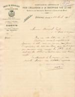 COMPAGNIE POUR L'ÉCLAIRAGE ET LE CHAUFFAGE PAR LE GAZ à BÉDARIEUX (HÉRAULT ) ....... CORRESPONDANCE COMMERCIALE  DE 1907 - Electricidad & Gas