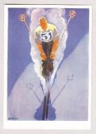 Schweiz Werbe Ansichtskarte Nicht Gelaufen 11. Olympische Winterspiele St Moritz 11-19.2.1928 Mit Rückseitig Vignette - Winter 1928: St-Moritz