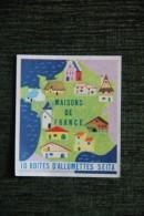 Etquette - Boite D´ALLUMETTE - SEITA - MAISONS DE FRANCE - Matchbox Labels