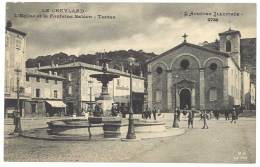 Cpa Le Cheylard - L'église Et La Fontaine Saléon - Terras - Le Cheylard