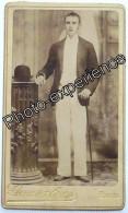 Photo Cdv XIX Homme Chapeau Men Hat 1890 BAHIA Brasil Brésil America Amérique - Anciennes (Av. 1900)