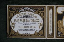 """Etui De Paquet De 20 Cigarillos """" LA NUEVA HABANA  """" - CUBA - Zigarrenetuis"""