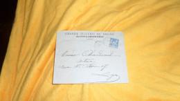 ENVELOPPE UNIQUEMENT DATE ?. / GRANDE TUILERIE DU RHONE. / STE FOY L'ARGENTIERE A LYON. / CACHETS + TIMBRE - Marcophilie (Lettres)
