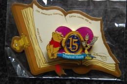 DLRP - Countdown To 15th Anniversary - J-50 (Winnie The Pooh And Lumiére) Spinner   Limited Edition 900 Ex. - Disney