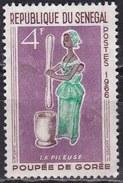 Senegal, 1966 - 4f Woman Pounding Grain - Nr.264 Usato° - Senegal (1960-...)