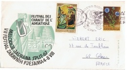 FLORA-L254 - YOUGOSLAVIE Lettre De Split Pour La France 1967 - 1945-1992 République Fédérative Populaire De Yougoslavie