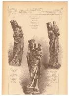 Architecture - Sculpture - Vierge, Virgin - Pisa, Paris Tolède,Troyes, Chatres, Florence,Dijon, Coutances, Bologne (b26) - Sculptures