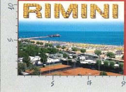 CARTOLINA NV ITALIA - RIMINI - Scorcio Panoramico - Spiaggia - Panorama - Vedutine - 10 X 15 - Rimini