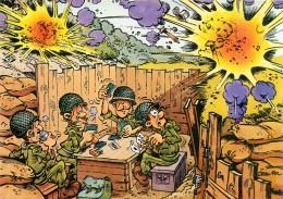 Carte Postale Moderne Couleur Humoristique Militaire - Illustrateur Jean-Pol - Partie De Cartes Tranchée - N° 22073 - Illustratoren & Fotografen