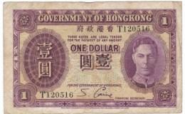 Hong Kong  #312 1936 $1 Dollar Banknote Currency - Hong Kong