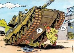 Carte Postale Moderne Couleur Humoristique Militaire - Illustrateur Mazel - Tank Réparation - N° 22064 - Illustratoren & Fotografen