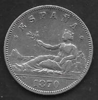 1870. GOBIERNO PROVISIONAL. 2 PTAS. PLATA - [ 1] …-1931 : Reino