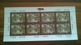 Kleinbogen Wertzeichendruckerei Der Post 1930-2002, Ersttag/Imprimerie Des Timbres De La Poste 1930-2002 Canceled FD - Blocks & Kleinbögen
