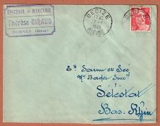 Decize 17.8.1948     Entête:  Épicerie Mercerie Thérèse Giraud  Dornes - France