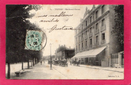 10 AUBE TROYES, Boulevard Carnot, Animée, Charrettes, Tonneaux, 1906, (Col. T. G.) - Troyes