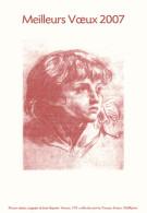 Francia - Meilleurs Voeux 2007, Mozart Enfant, Sanguine De Jean-Baptiste Greuz - - Francia