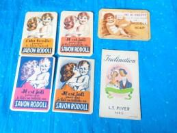 Lot De Cartes Parfumées Savon Rodoll -jabon Rodoll-creme Giraud-rodoll Soap  Giraud A Lyons-lt Piver-bebe Et Sa Maman - Perfume Cards