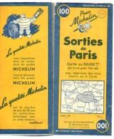 Carte Géographique MICHELIN - N° 100 Sorties De PARIS 1952 - Wegenkaarten