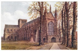 Winchester Cathedral From The North West By A R Quinton - Salmon No 3771 - Unused - Quinton, AR