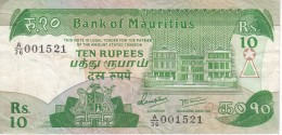 BILLETE DE MAURITIUS DE 10 RUPEES (BANKNOTE) - Mauritius