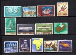 Zambia    1965  .-  Y&T  Nº   20 - 22 - 26 - 28 - 30/31 - 51 - 52 - 55 - 57/60 - Zambia (1965-...)
