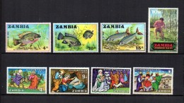 Zambia    1971-72  .-  Y&T  Nº   74/76 - 82 - 89/92 - Zambia (1965-...)