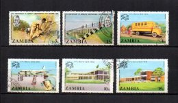 Zambia    1974  .-  Y&T  Nº   119 -123 - 125/128 - Zambia (1965-...)
