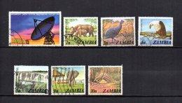 Zambia    1974-75  .-  Y&T  Nº   131 - 133/134 - 136/137 - 139/140 - Zambia (1965-...)