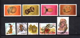 Zambia    1981-82  .-  Y&T  Nº   244/247 - 248/250 - 252 - 254 - Zambia (1965-...)