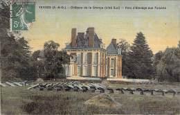 91 - Chateau De La Grange ( Côté Sud ) : Parc D'Elevage Aux Faisans - CPA Colorisée Et Plastifiée - Essonne - Yerres