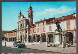 GUASTALLA MONUMENTO A GONZAGA E DUOMO , ANIMATA , AUTO ,  VIAGGIATA 1965 , ED. F.LLI LODI 208 - Reggio Nell'Emilia
