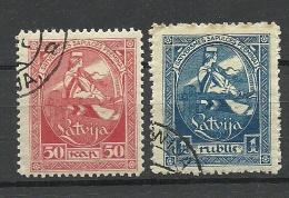 LETTLAND Latvia Lettonia 1919 Michel 42 - 43 O - Lettonie