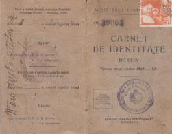 4263FM- STUDENT IDENTITY CARD, PHOTO, QUEEN MARIA HIGH SCHOOL, 12 PAGES, 1923, ROMANIA - Diplomas Y Calificaciones Escolares