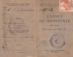 4263FM- STUDENT IDENTITY CARD, PHOTO, QUEEN MARIA HIGH SCHOOL, 12 PAGES, 1923, ROMANIA - Diploma's En Schoolrapporten