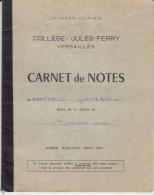 4266FM- JULLES FERRY-VERSAILLES COLLEGE SCHOOL REPORT, GRADES, 34 PAGES, 1960, FRANCE - Diplômes & Bulletins Scolaires