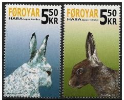 Faeroer/Faroe/Féroé: La Lepre Delle Alpi, The Hare Of The Alps, Le Lièvre Des Alpes - Timbres
