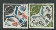 Monaco N° 511 / 12 XX Inauguration Du Palais De L´U.N.E.S.C.O., Les 2 Valeurs  Sans Charnière TB - Unused Stamps