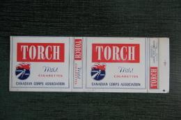 """Etui De Paquet De Cigarettes """" TORCH """"-  CANADA - Etuis à Cigarettes Vides"""