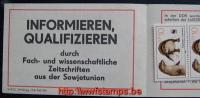 50% DISCOUNT WWF - DDR - 1987- Booklet  - SMHD17aay1 : 10 * 10 Pf: Weltkommunikationsjahr: V/5/2 3450 Ag 1... - W.W.F.