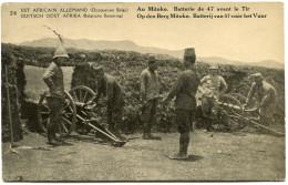 CONGO BELGE CARTE POSTALE ENTIER SURCHARGE EST AFRICAIN ALLEMAND (OCCUPATION BELGE) N°24 AU MITOKO BATTERIE DE 47....... - Stamped Stationery