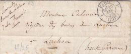 SEINE -Lettre Sans Timbres --Pour Luchon30cCad 2530 FDate1859Ind65   (lot41_6) - 1849-1876: Periodo Classico
